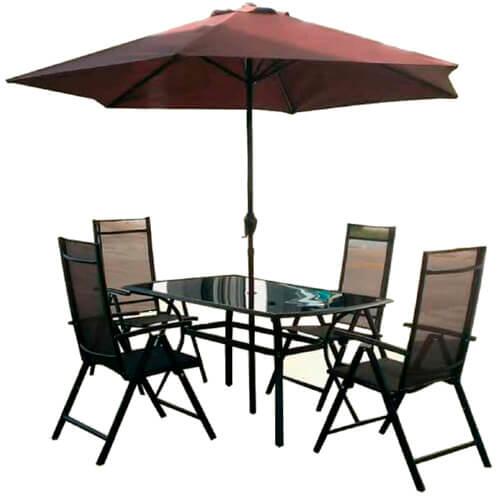 Комплект мебели с зонтом KFNST-007