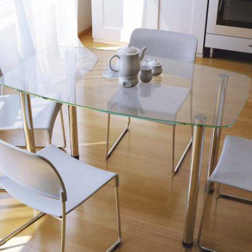 Столы обеденные ИЗ СТЕКЛА И ТРИПЛЕКСА (Линия мебели)