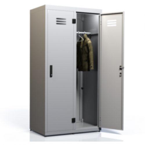Двухсекционный гардеробный металлический шкаф «DION GARDI 2-500»