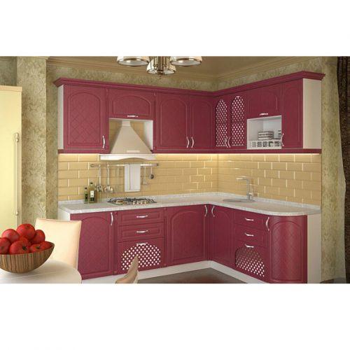 Кухня «Дуб шардоне 2500х1900» (Ревда-мебель)