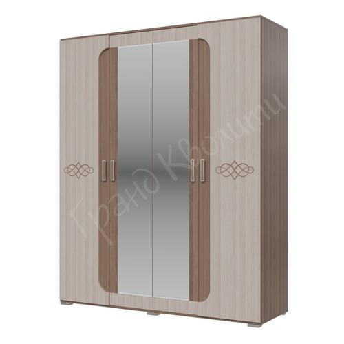"""Шкаф 4-х дверный """"Пальмира"""" с рисунком (Гранд Кволити)"""