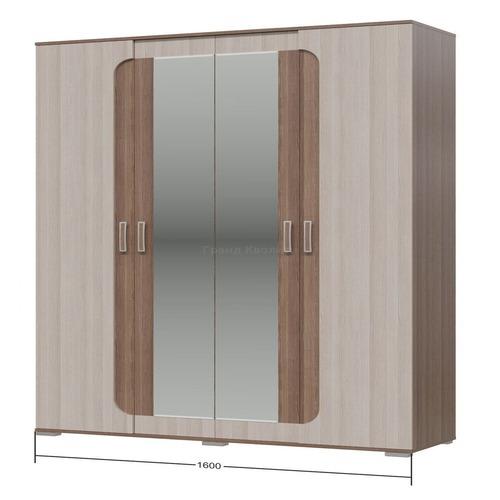 "Шкаф 4-х дверный ""Пальмира"" без рисунка (Гранд Кволити)"