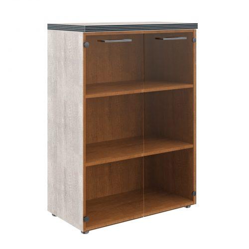 Шкаф низкий со стеклянными дверьми TMC 85.2