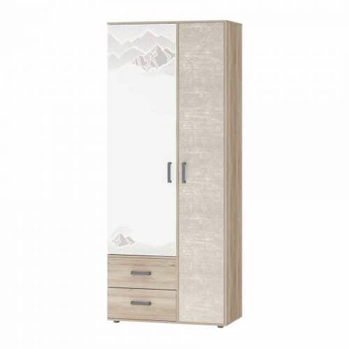 """Шкаф для одежды с полками и штангой """"Эверест"""" (Давита мебель)"""